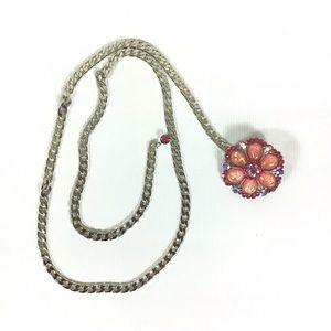 Vintage 80's Jeweled Chain Belt